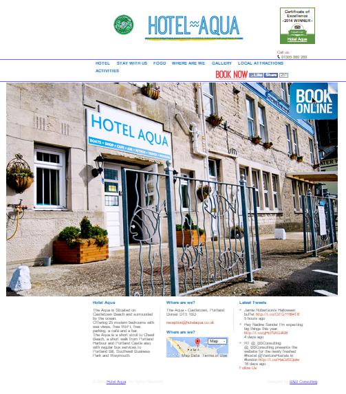 Hotel Aqua - Web design